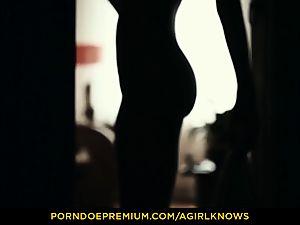 A damsel KNOWS - slim Gina Gerson sensual girl/girl hookup