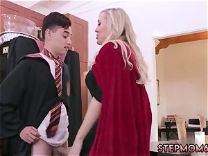 ash-blonde jiggling ejaculation gonzo Halloween special With A threeway