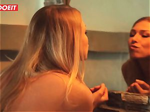 LETSDOEIT - Afterparty hookup With steamy lezzy teens