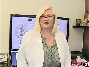Mature doctor bootie torn up