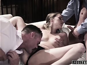 pure TABOO honey Tricked Into vengeance threesome with Strangers