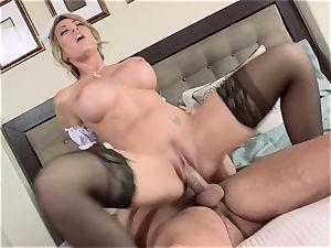 molten maid Capri Cavanni gives her boss some extras