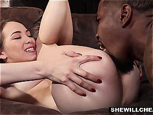 SheWillCheat - cheating wifey Pounces On dark-hued hard-on