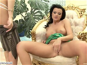 lustful gf Gina B and Judy Nero smashed their honeypots