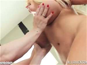 My mom bought a new strap-on and attempt it on me