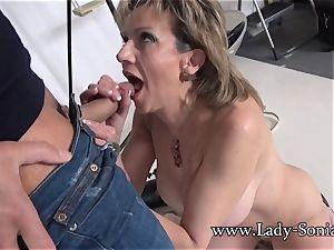 camera operator Face penetrates Mature lady Sonia