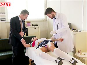 college girl gets abused hardcore by professor and doc