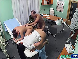 insane physician boinking spectacular nurse and cleaning chick
