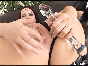 Dana gets her bum stuffed with hefty black meatpipe
