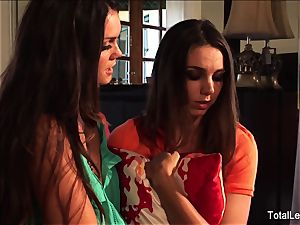 big-chested babe Alison helps Tiffany get over a breakup