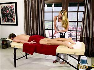 schlong railing massagist stunner
