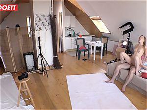 Czech teenage cutie Alexis Crystal first porno Shoot